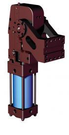 RC - Pneumatická polohovacia jednotka s hydraulickým kontrolným mechanizmom